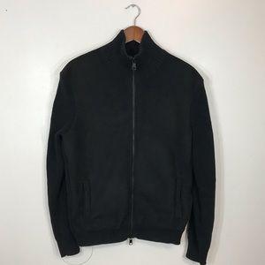 Armani Exchange suede front knit back jacket